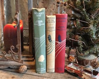 Old Books - Mutiny on the Bounty, Botany Bay & Pitcairn's Island FREE SHIPPING