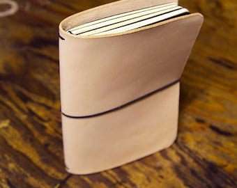 Quad Moleskine Cahier Leather Notebook Refillable Journal Cover.