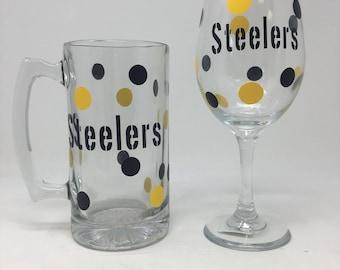 Steelers Mug or wine glass