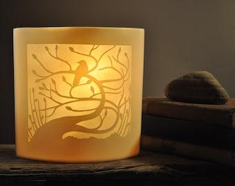 Porcelain Table Lamp 'Tregony Tree Ellipse'