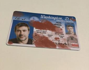 The Walking Dead - NEGAN -  Jeffrey Dean Morgan - ID Card / License