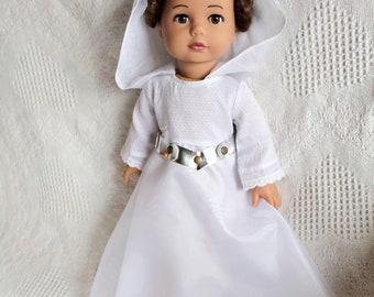 OOAK Custom Gotz Doll, Custom 18 inch doll, Star Wars Princess Leia, American Girl Like