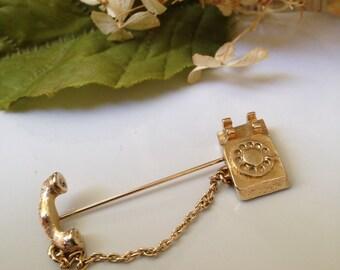 Avon Rotary Telephone Pin