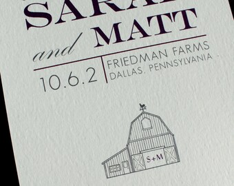 Barn themed save the date