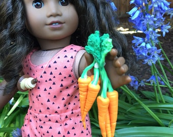 Freshly Pulled Carrot Bunch for 18 inch Dolls