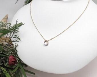 Ametrine Necklace, Light Purple Pale Yellow Gemstone Necklace In 14K Gold Filled, Gold Filled Necklace, 16-18.5 Inches, Ametrine Jewelry