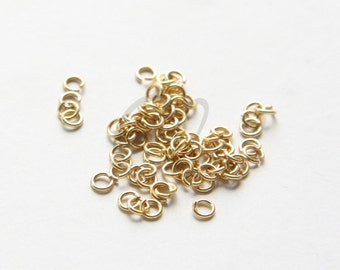 10 Pieces of 14K Gold Filled OPEN Jump Ring - 4mm (Outside Diameter) (2024)