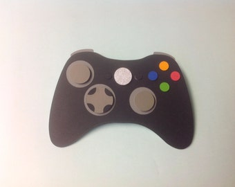 Xbox Video Game Invitation 3D , Xbox 360 , Xbox One , kids , games , pop up , boys , girls , teens , controller , microsoft, invite