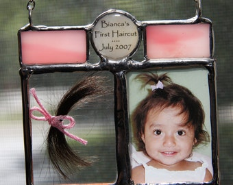 First Haircut Lock of Hair Baby Hair Photo Keepsake, First Curl, Baby Hair Keepsake