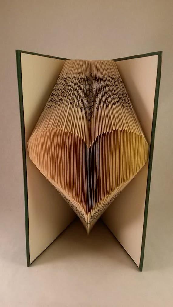 Fabulous Große Herzen gefaltet Buch Papierkunst Jubiläum XX45