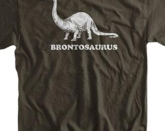 Funny Dinosaur T-Shirt - Brontosaurus Geek Science Kids School Mens Ladies Womens Youth
