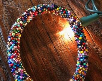 Colorful beaded bracelet
