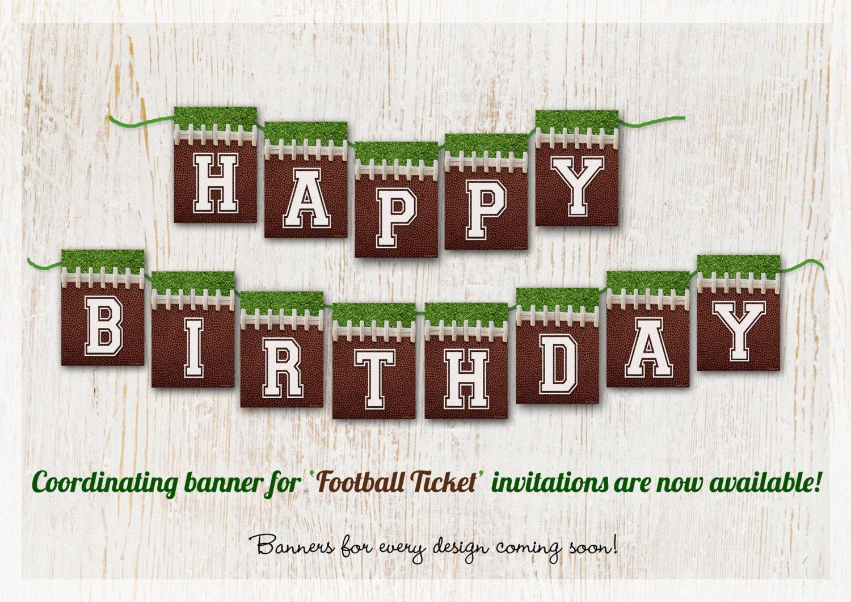 Football Birthday Banner Custom Football Party Banners