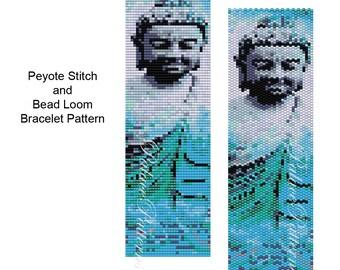 Blue Buddha Peyote and Bead Loom Bead Weaving Pattern