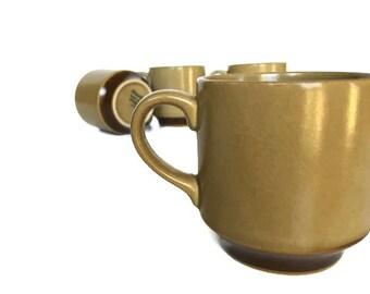 Hearthside stoneware mugs vintage coffee cups dogwood pattern