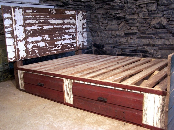 Shabby Chic Barn Door Bed