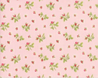 Rosebuds in Bloom ..  Brenda Riddle Designs .. CAROLINE collection  Moda fabric 18653 13 ..  Pink colorway