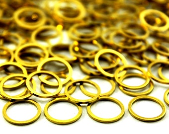50 pcs 0.80x12 mm Raw Brass Round Charms ( 20 gauge )