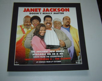 Janet Jackson Dosen't Really Matter Poster in A Custom Made Mount Ready To Frame