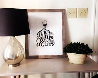 Tequila Print | home decor | alcohol print | alcohol picture | gift | Shipping included!