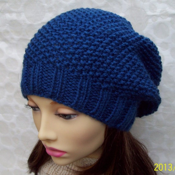 Knitting Patternroxanne Womans Slouchy Hat In Textured Seed