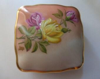 Vintage Limoges Trinket Dish, Hand Painted, 1950's