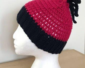Adjustable Messy Bun Hat - Adjustable Ponytail Hat - Ponytail Hat With Bow - Messy Bun Hat With Bow - Adjustable Winter Hat - Running Hat