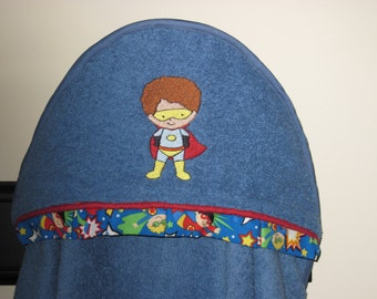 NEW Superhero Hooded towel personalized many colors