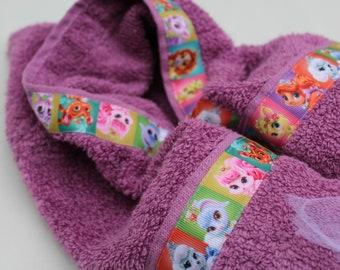 Disney Princess Palace Pets Purple Hooded Towel
