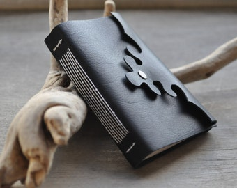 Bamboo forest leather travel journal