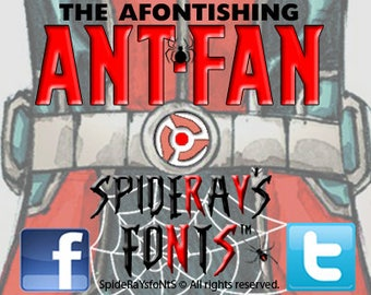 The AFONTISHING ANT-FAN Commercial Font
