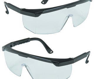 1 Brand New Safety Glasses Clear Lenses Eye Wear Protection Automotive Home Improvements Hobby & Craft
