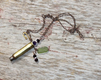 Bullet Shell Jewelry, Artisan Made, Bullet Shell Necklace