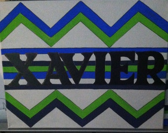 Outside Chevron Personalized Painting