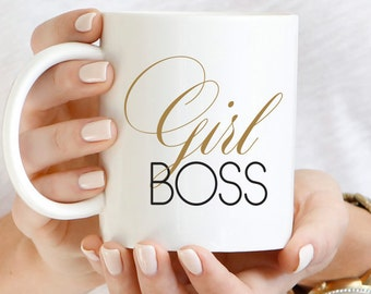 Girl Boss Inspirational Mug, Girl Boss Mug, Entrepreneur, Inspirational Gift, Unique Coffee Mug, Gift for Boss, Boss Mug, Girl Boss Cup