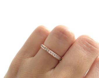Rose Gold Wedding Band Ring. Eternity Band Ring. Rose Gold Stacking Ring. Stackable Ring. Rose Gold Eternity Band Packed In A Luxury Box.
