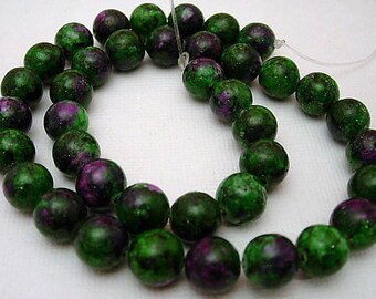 Ruby zoisite stone drilled 10MM.