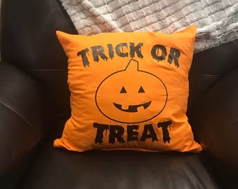 Trick or Treat Halloween Pillow- Cover Only