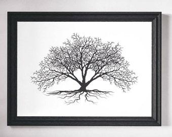 Wall Art, Tree Print, Black and White, Prints, Wall Art Print, Black and White Art, Tree Wall Art, Minimalist Print, Minimalist Art, Trees