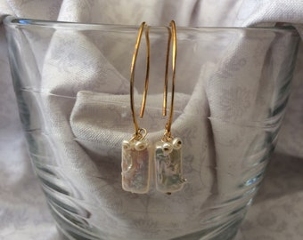 Freshwater Pearl and Gold Fill earrings
