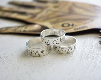 Alchemist's Ring- serling silver band