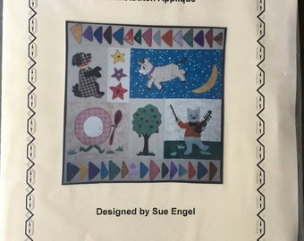 PATTERN: Blanket-stitch applique - Hey Diddle Diddle by Sue Engel of In Good Company