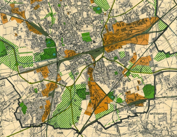 Old Map of Gelsenkirchen 1926 Gelsenkirchen Map North