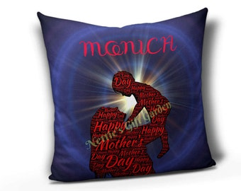 Mothers's Day pillow, personalized pillow for mom, pillow, word art pillow. printed pillow