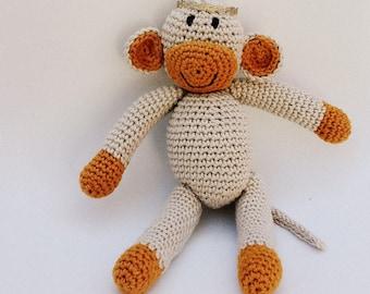 Crochet Baby Monkey, Tiny Monkey Nursery, Amigurumi Toy, Newborn Toy, Baby Nursery Decor, Baby Soft Monkey, Baby Monkey, newborn Photo Prop.
