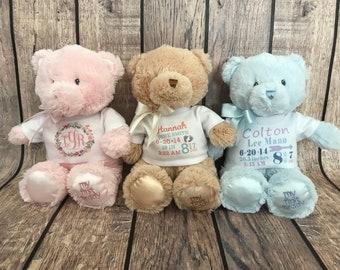 Personalized Teddy Bear Keepsake