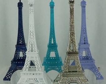 "6"" Eiffel Tower centerpiece for wedding, events, quinceanera, Paris theme events."