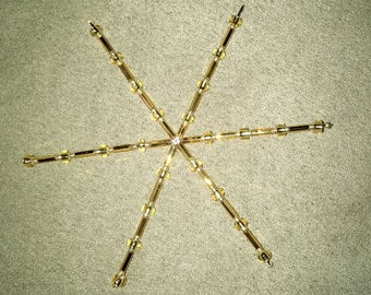Gold Glass Bead Sun-catcher (Small)
