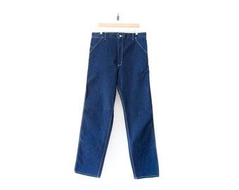 Deadstock Carhartt Jeans: 50% of Proceeds go to Planned Parenthood! Union Made Carpenter Jeans, Raw Denim Pants, High Waist, 80s/90s