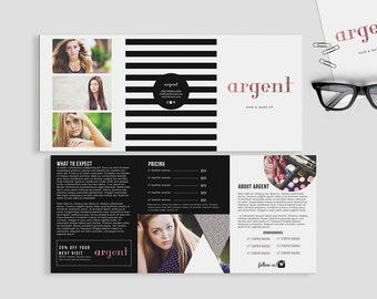 Argent double sided 5 x 7 trifold brochure - Instant download
